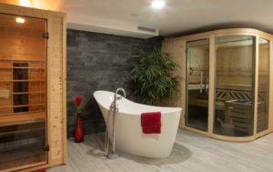 Infrarotkabine, Badewanne und Sauna in Streudorf