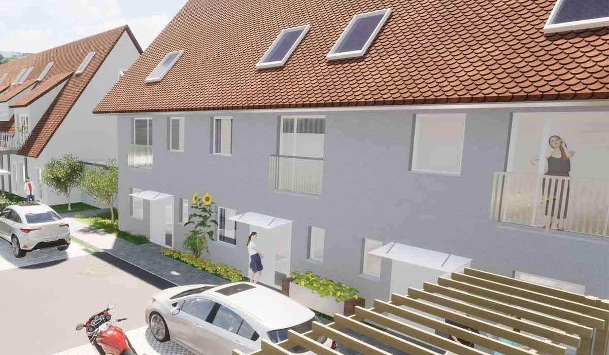 Großweingarten Neubau 3 Wohneinheiten