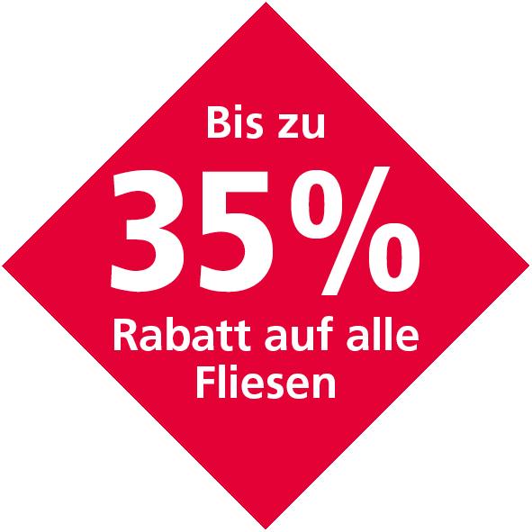 Bis zu 35% Rabatt auf alle Fliesen bei Nürminger